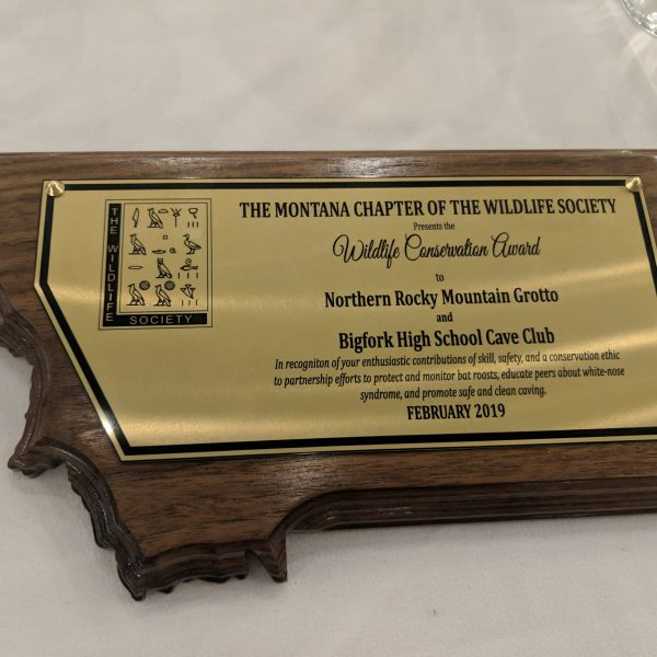 Montana Caving Clubs Recognized with Wildlife Conservation Award